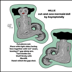 Millie Mermaid Doll Panel