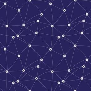netting on navy blue by rysunki_malunki