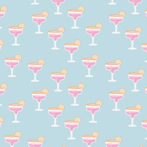 Girls night out cocktail glass birthday celebration cheers and manhattan cosmopolitan drinks orange pink blue