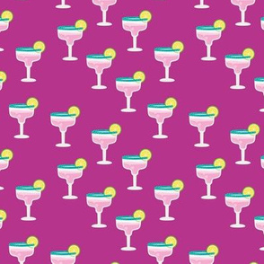 Girls night out cocktail glass birthday celebration cheers and manhattan cosmopolitan drinks fuchsia lime pink