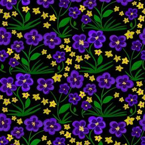Velvety Violet Blooms