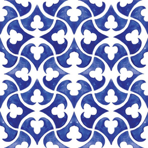 Lisbon blue tile watercolor