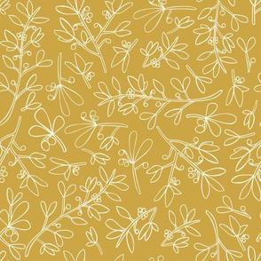 Wonderland Winter Flora Yellow Background-01