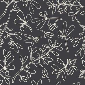 Wonderland Winter Flora Charcoal Background-01
