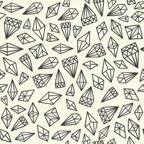Wonderland Diamonds on Charcoal Black