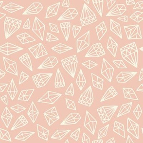 Wonderland Diamonds Light Pink and Creamy White