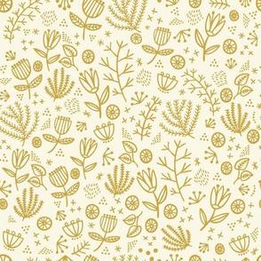 Wonderland Flower Whimsy in yellow