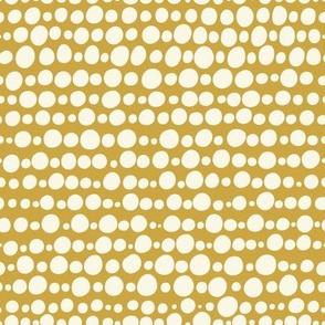 Wonderland Circles in yellow and white