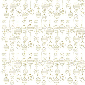 Gold Orament Pattern on White Background