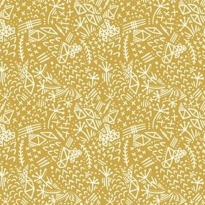 Wonderland Embroidery - in mustard yellow