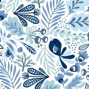 Garden Snail Small - blues