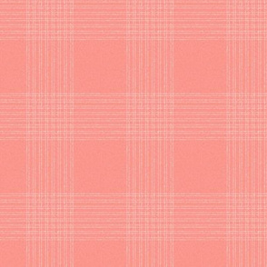 Crossover Plaid Dark small: Coral & Cream Linear Plaid