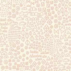 Wonderland Geometric Shapes Pink