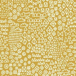Wonderland Geometric Shapes Yellow