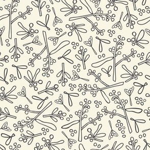 Wonderland - Australian Flora Wattle - White