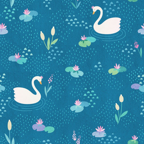 Swans and Lilies