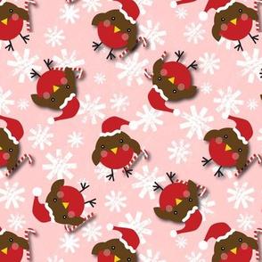 Candy cane robin