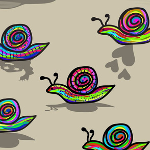 colorful snail shadows