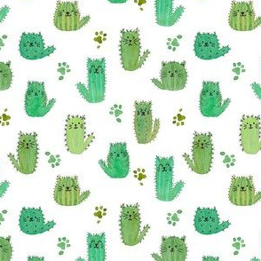 Micro cat-cus! Cactus cats and paws NEW SMALL SCALE