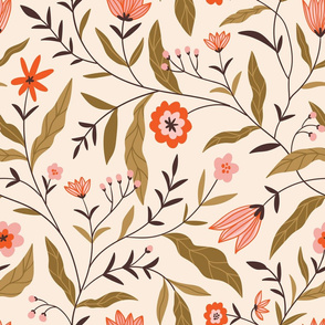 Chintz floral print (large scale)