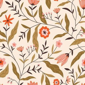 Chintz floral print (small scale)