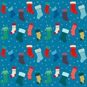 Holiday Stockings Blue