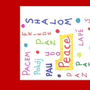 peace red border