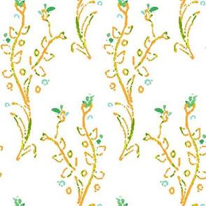 Lillian orange green