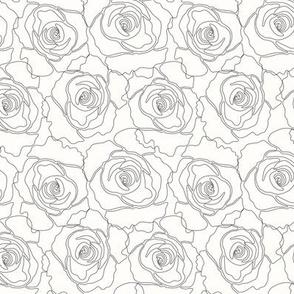 Floral Linework Black