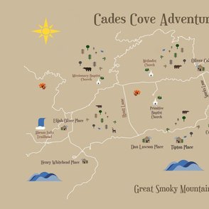 Cades Cove Adventure Fat Qtr