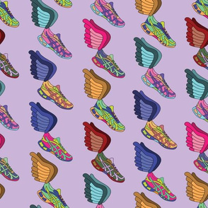 Winged Shoes - Purple Background