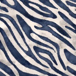 navy zebra print with off white background (larger)