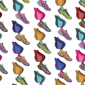 Winged Shoes - White Background