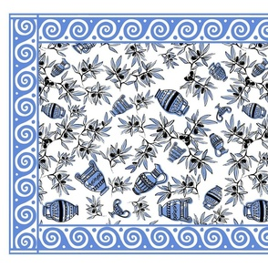 Mousehaus Greek Urn_Wave Border_Blue
