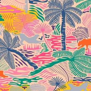 Jungle Magic / Colorful Crayon - Big Scale