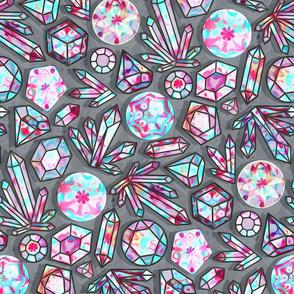 Kaleidoscope Crystals - Grey  (Large Version)