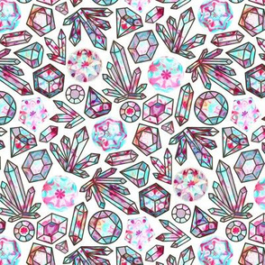 Kaleidoscope Crystals - White (Small Version)