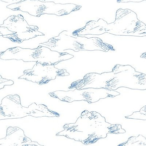 Pencil drawing clouds
