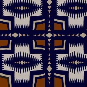 Southwest Folk Art - Red Beige