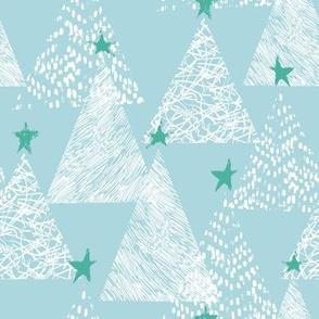 Blue scandi Christmas trees
