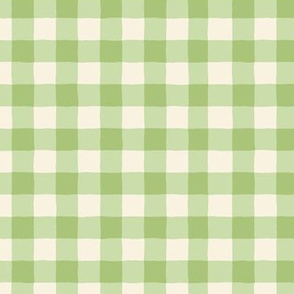 Berry Patch Gingham: Green Gingham Check