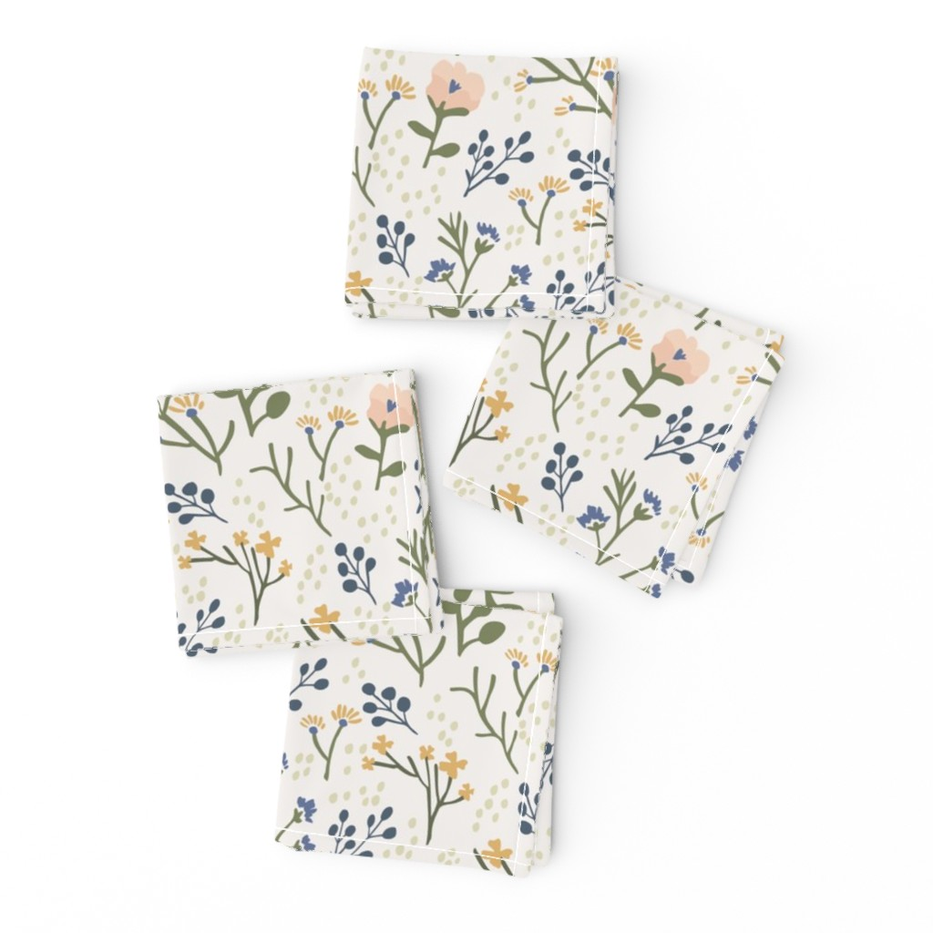 Frizzle Cocktail Napkins featuring Whimsy Floral by jillianhelvey