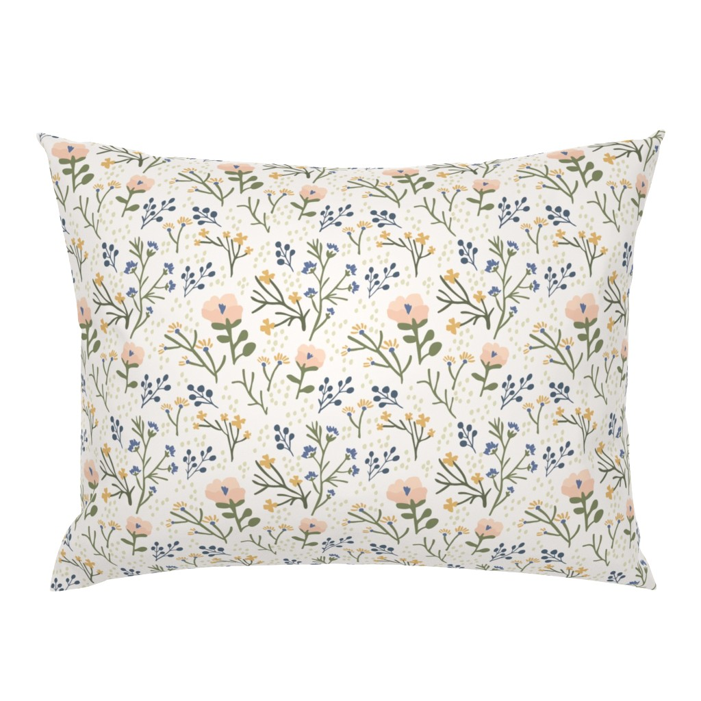 Campine Pillow Sham featuring Whimsy Floral by jillianhelvey