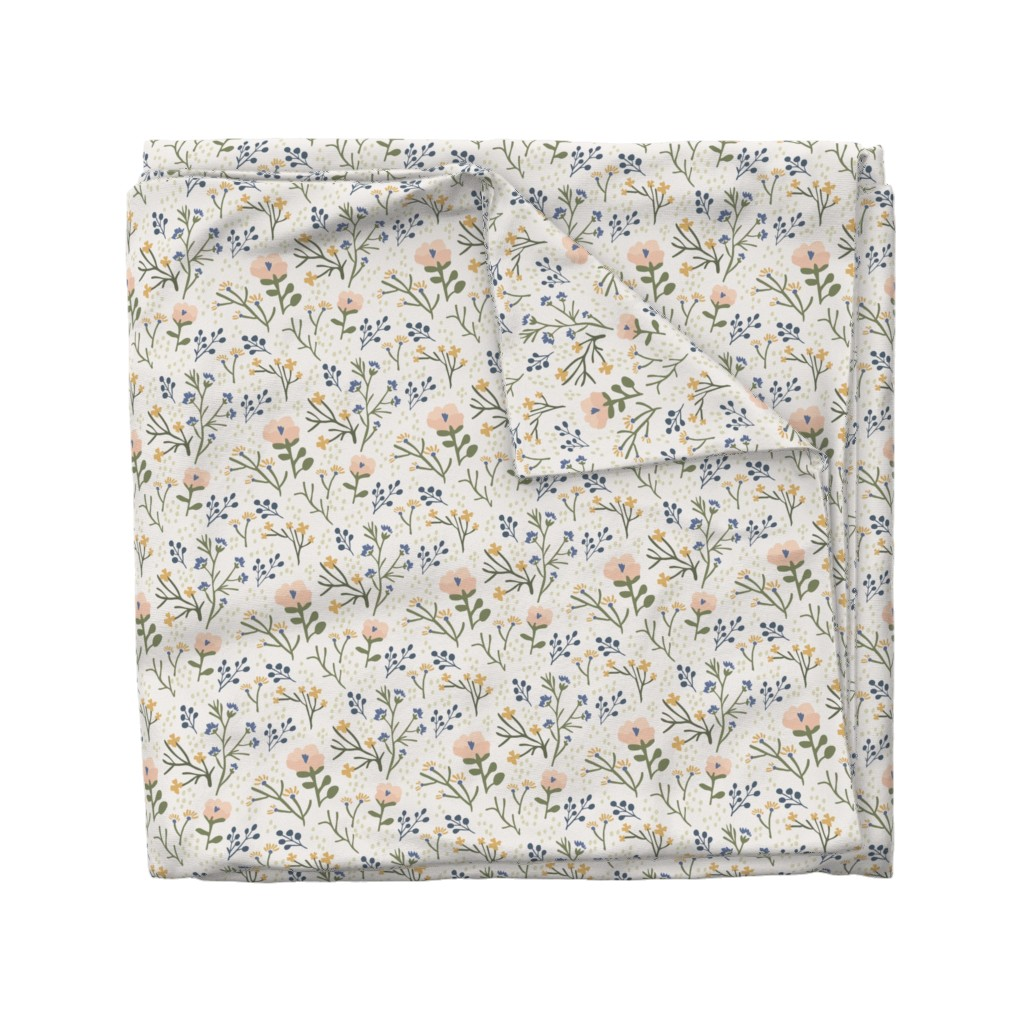 Wyandotte Duvet Cover featuring Whimsy Floral by jillianhelvey