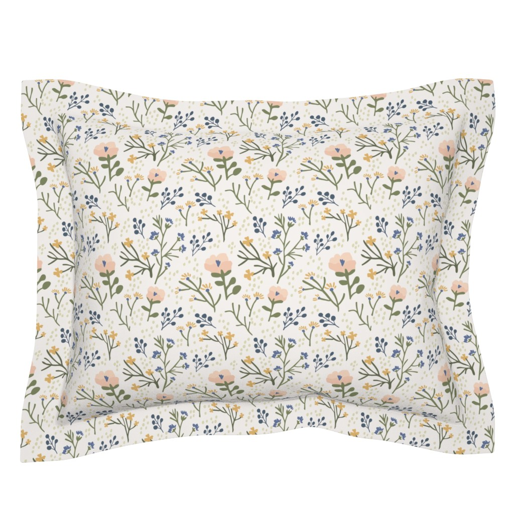 Sebright Pillow Sham featuring Whimsy Floral by jillianhelvey