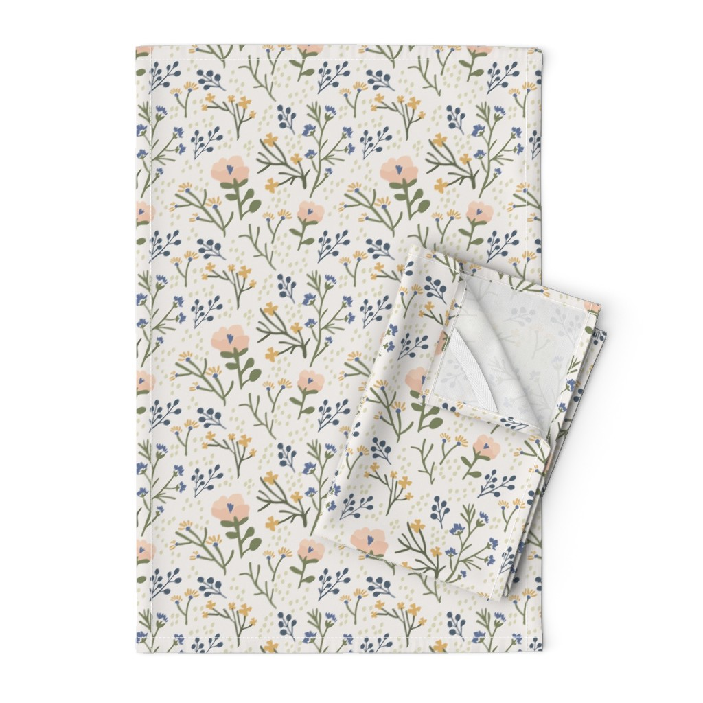 Orpington Tea Towels featuring Whimsy Floral by jillianhelvey