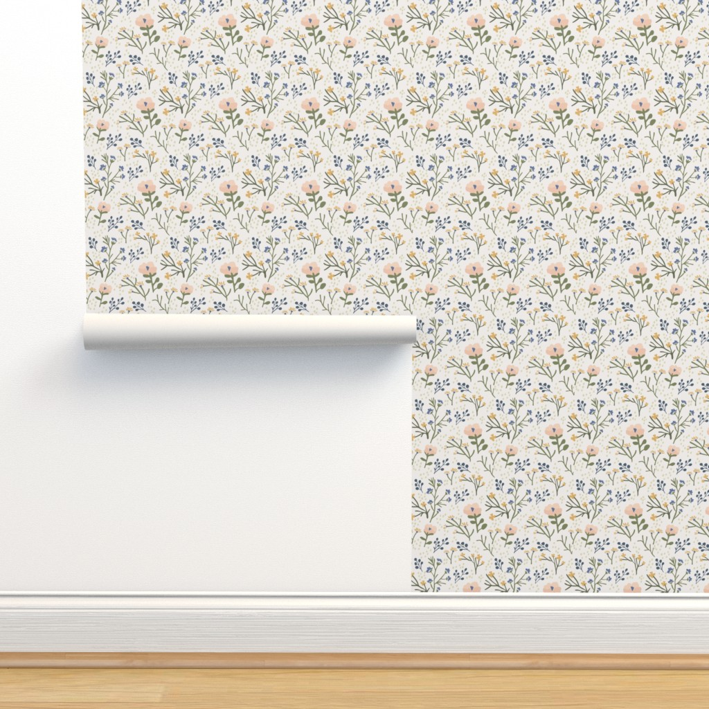 Isobar Durable Wallpaper featuring Whimsy Floral by jillianhelvey