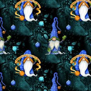 Blue Christmas Gnomes