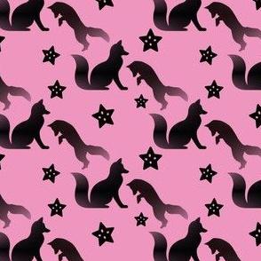 Tiny Fox on Pink