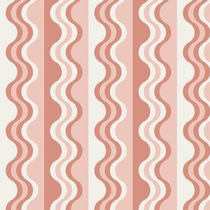 Sea Shell Waves in coral pink